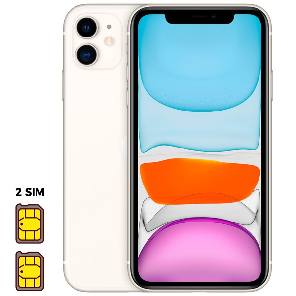 Apple iPhone 11 [Dual SIM] 64GB White (белый)