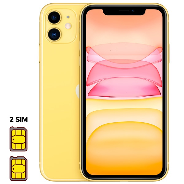 Apple iPhone 11 [Dual SIM] 64GB Yellow (желтый)