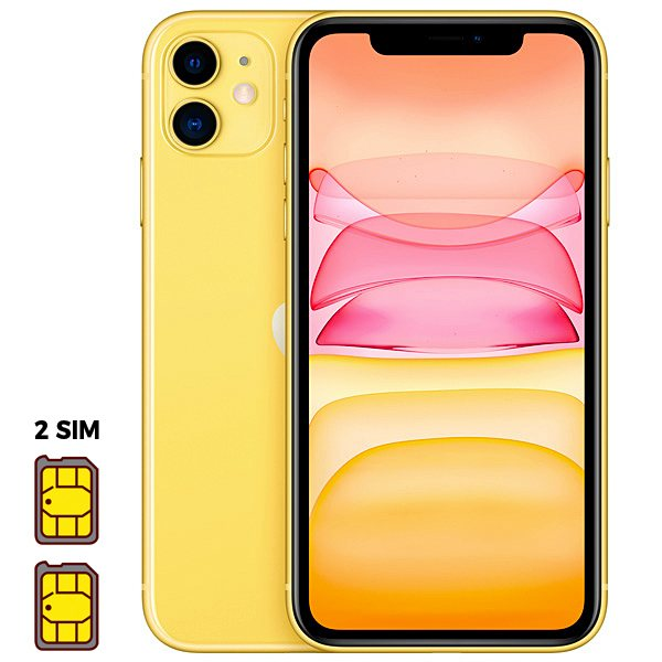 Apple iPhone 11 [Dual SIM] 256GB Yellow (желтый)
