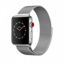 Apple Watch Series 3 42mm Silver стальной корпус серебристый браслет миланская петля