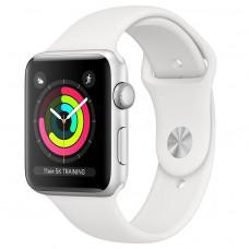Apple Watch Series 3 42mm Silver алюминиевый корпус белый спортивный ремешок