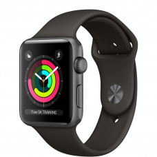 Apple Watch Series 3 42mm Space Gray алюминиевый корпус серый спортивный ремешок