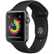 Apple Watch Series 3 42mm Space Gray корпус из алюминия черный спортивный ремешок