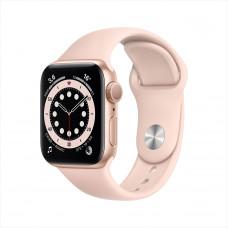 Apple Watch Series 6, 40 мм, алюминий золотистого цвета, спортивный ремешок цвета «розовый песок»