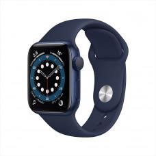 Apple Watch Series 6, 40 мм, алюминий тёмно-синего цвета, спортивный ремешок цвета «тёмный ультрамарин»