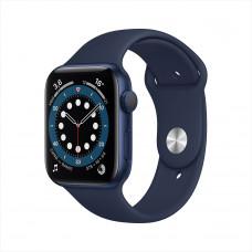 Apple Watch Series 6, 44 мм, алюминий тёмно-синего цвета, спортивный ремешок цвета «тёмный ультрамарин»