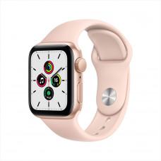 """Apple Watch SE, 40 мм, алюминий золотистого цвета, спортивный ремешок цвета """"розовый песок"""""""