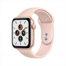 Apple Watch SE, 44 мм, алюминий золотистого цвета, спортивный ремешок цвета «розовый песок»
