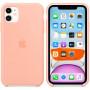 Чехол Apple Silicone Case для iPhone 11 Grapefruit розовый