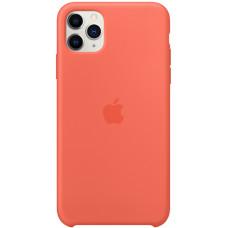 Силиконовый чехол Apple Silicone Case для iPhone 11 Pro Max Clementine Orange оранжевый