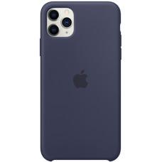 Силиконовый чехол Apple Silicone Case для iPhone 11 Pro Max Midnight Blue синий