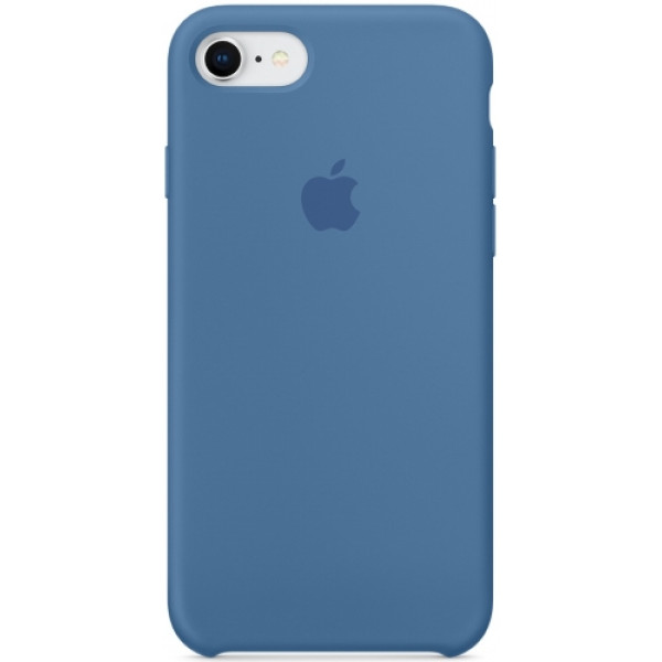 Чехол Apple Silicone Case для iPhone 8/7 Denim Blue синий
