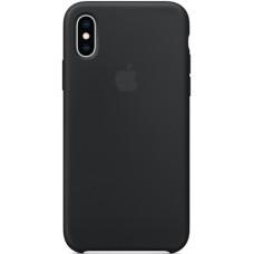 Чехол Apple Silicone Case для iPhone XS Black силиконовый черный