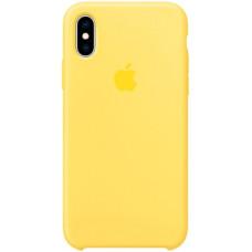 Чехол Apple Silicone Case для iPhone XS Canary Yellow силиконовый желтый