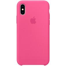 Чехол Apple Silicone Case для iPhone XS Dragon Fruit розовый