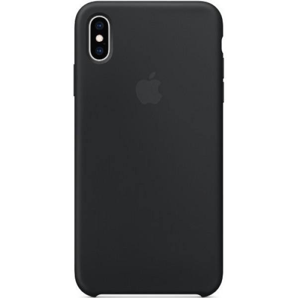 Чехол Apple Silicone Case для iPhone XS Max Black черный