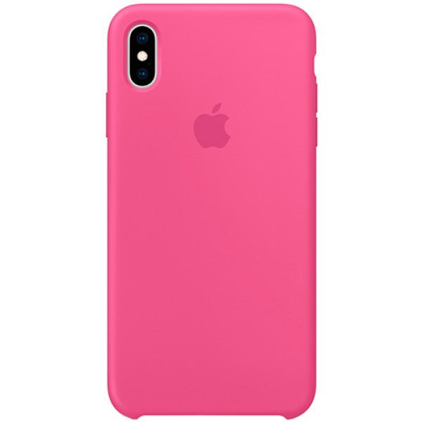 Силиконовый чехол Apple Silicone Case для iPhone XS Max Dragon Fruit розовый
