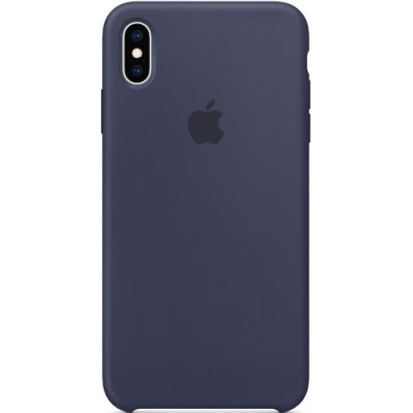 Силиконовый чехол Apple Silicone Case для iPhone XS Max Midnight Blue синий