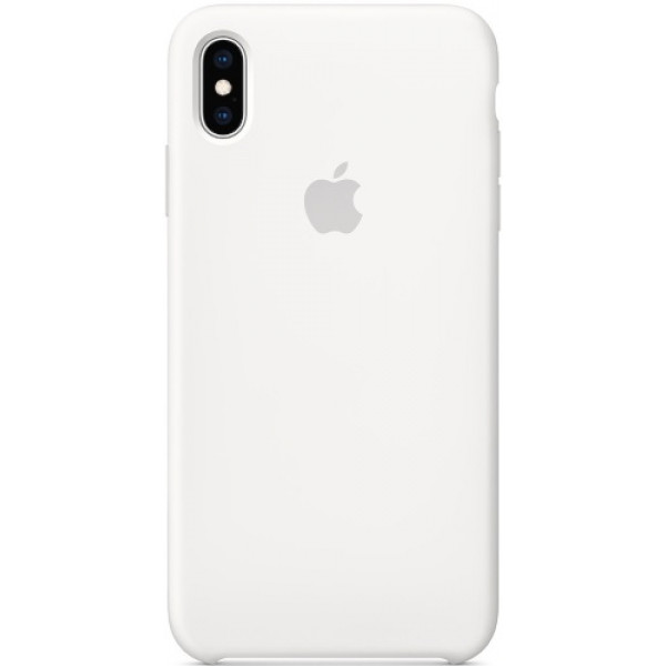 Чехол Apple Silicone Case для iPhone XS Max White силиконовый белый