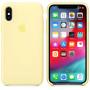 Чехол Apple Silicone Case для iPhone XS Mellow Yellow желтый