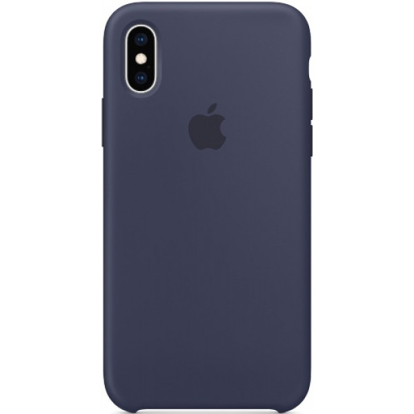 Чехол Apple Silicone Case для iPhone XS Midnight Blue синий