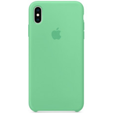 Силиконовый чехол Apple Silicone Case для iPhone XS Spearmint зеленый