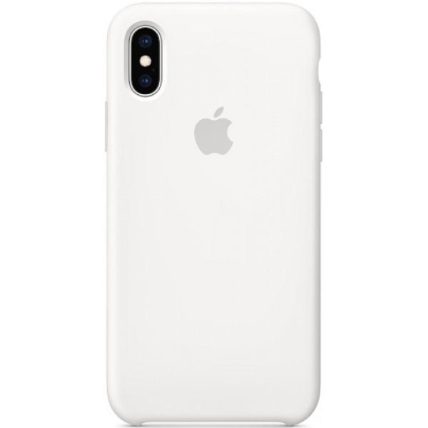 Силиконовый чехол Apple Silicone Case для iPhone XS White белый