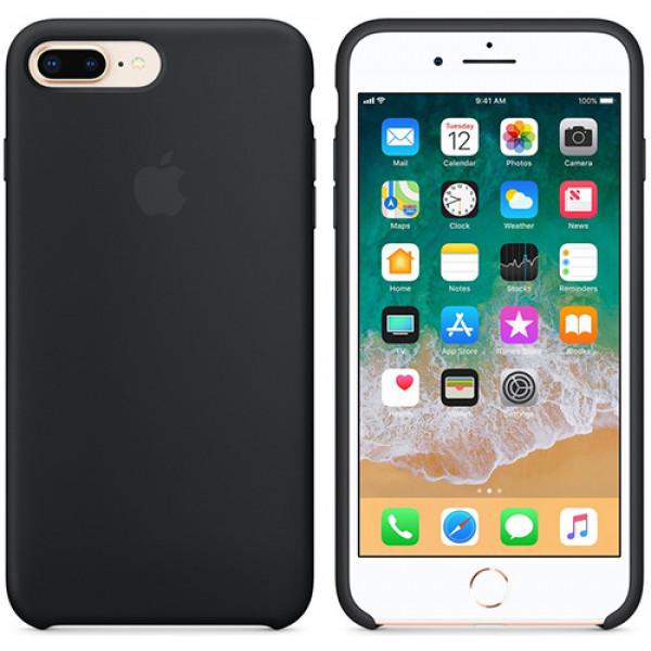 Чехол Apple для iPhone 8 Plus/7 Plus Silicone Case Black черный