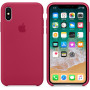 Чехол Apple для iPhone X Silicone Case Rose Red красный