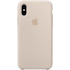Чехол Apple Silicone Case для iPhone XS Stone бежевый
