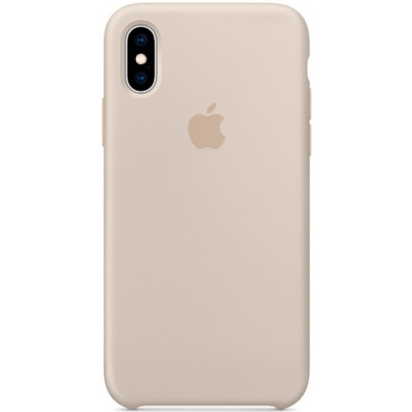 Чехол Apple Silicone Case для iPhone XS Stone бежевый
