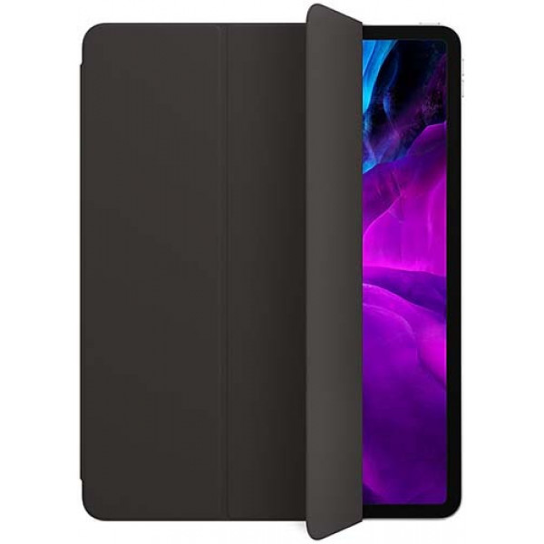 """Чехол обложка для планшета Apple Smart Folio для iPad Pro 12.9"""" Black черный кожаный"""