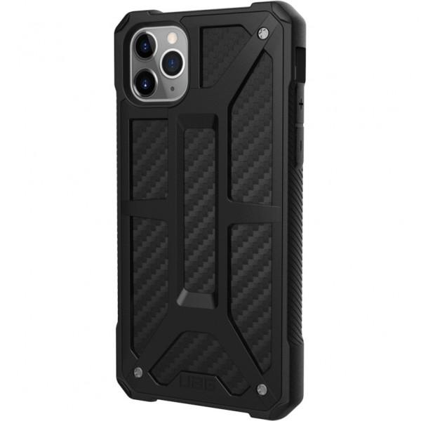 Чехол UAG Monarch Series Case для iPhone 11 Pro Max чёрный карбон