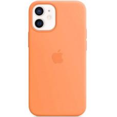 Чехол Apple Silicone MagSafe для iPhone 12 mini Kumquat
