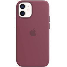 Чехол Apple Silicone MagSafe для iPhone 12 mini Plum