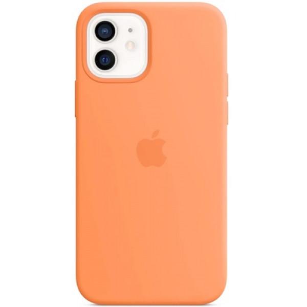 Чехол Apple Silicone MagSafe для iPhone 12/12 Pro Kumquat
