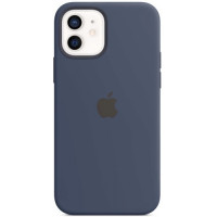 Чехол Apple Silicone MagSafe для iPhone 12/12 Pro Deep Navy