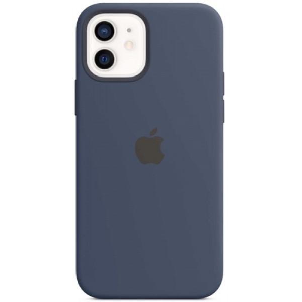 Чехол Apple Silicone MagSafe для iPhone 12/12 Pro Deep Navy
