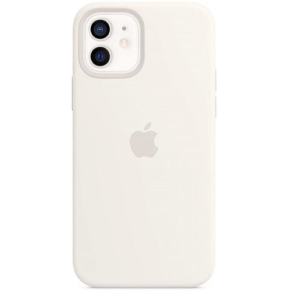 Чехол Apple Silicone MagSafe для iPhone 12/12 Pro White