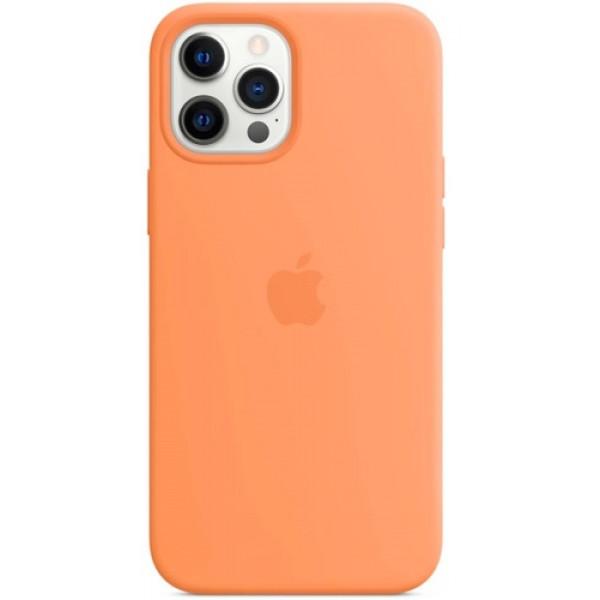 Чехол Apple Silicone MagSafe для iPhone 12 Pro Max Kumquat