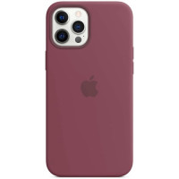 Чехол Apple Silicone MagSafe для iPhone 12 Pro Max Plum