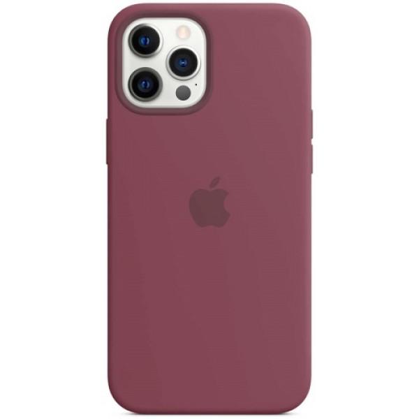 Чехол Apple Silicone MagSafe для iPhone 12 Pro Max Plum