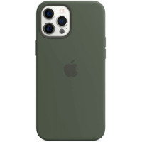 Чехол Apple Silicone MagSafe для iPhone 12 Pro Max Silicone Cypress Green