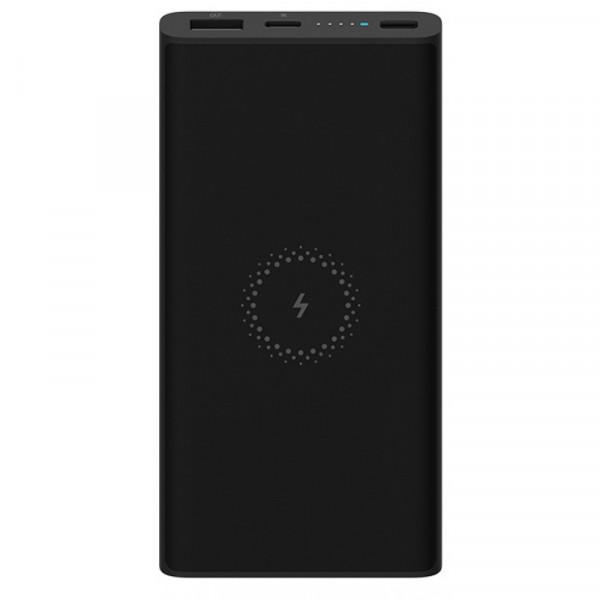 Внешний аккумулятор с поддержкой беспроводной зарядки Xiaomi Mi Power Bank Youth Edition (10000 mAh, черный)