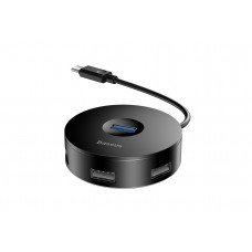Хаб Baseus round box HUB adapter Type-C to USB Black
