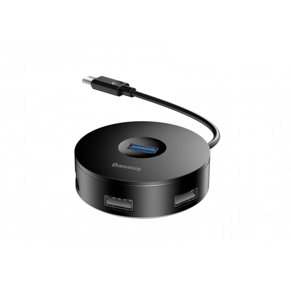 Хаб Baseus round box HUB adapter Type-C to USB Black
