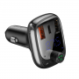 Автомобильное зарядное устройство Baseus 2USB+USB-C 3.4A с дисплеем