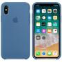Чехол Apple Silicone Case для iPhone X Denim Blue синий