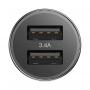 Автомобильное зарядное устройство Baseus Small Screw 3.4A Dual USB Черный